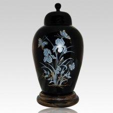 Iris Black Keepsake Cremation Urn