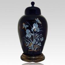 Iris Blue Keepsake Cremation Urn