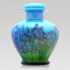 Iris Glass Cremation Urn