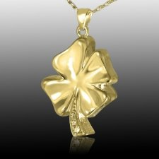 Irish Clover Cremation Pendant II