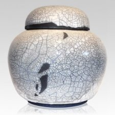 Irish Crackle Ceramic Urn