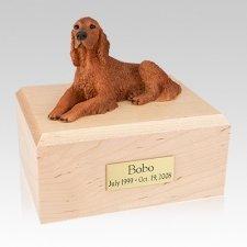 Irish Setter Laying Large Dog Urn