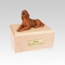 Irish Setter Laying Small Dog Urn