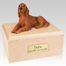 Irish Setter Laying Dog Urns