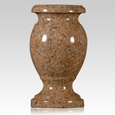 Island Red Granite Vase