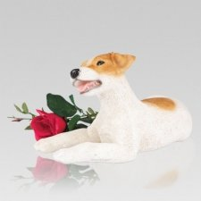 Jack Russell Cremation Urn