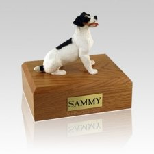 Jack Russell Terrier Black & Brown Large Dog Urn
