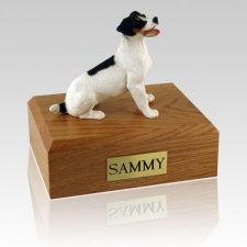 Jack Russell Terrier Black & Brown X Large Dog Urn