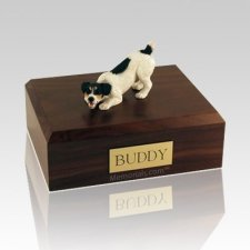 Jack Russell Terrier Black Large Dog Urn