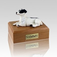 Jack Russell Terrier Black Laying Large Dog Urn