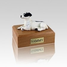 Jack Russell Terrier Black Laying Small Dog Urn