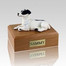 Jack Russell Terrier Black Laying Dog Urns