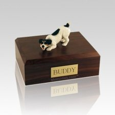 Jack Russell Terrier Black Medium Dog Urn
