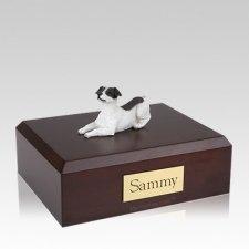 Jack Russell Terrier Black Resting Large Dog Urn