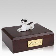 Jack Russell Terrier Black Resting Dog Urns