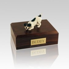 Jack Russell Terrier Black Small Dog Urn