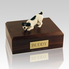 Jack Russell Terrier Black X Large Dog Urn