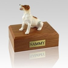 Jack Russell Terrier Brown Sitting Large Dog Urn