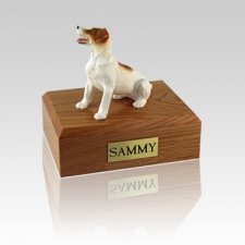 Jack Russell Terrier Brown Sitting Small Dog Urn