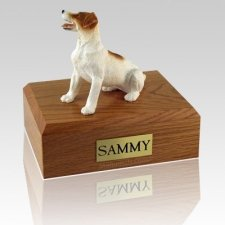Jack Russell Terrier Brown Sitting Dog Urns