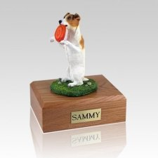 Jack Russell Terrier Playing Large Dog Urn