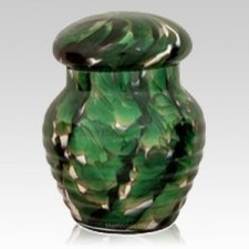 Jade Glass Pet Urn