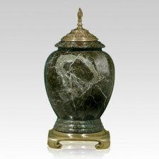 Jade Gold Tone Marble Cremation Urn