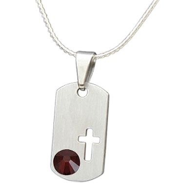 January Cross Cremation Pendant