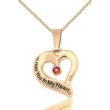 January Gold Heart Keepsake
