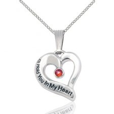 January White Gold Heart Keepsake