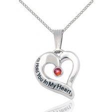 January Heart Keepsake Jewelry