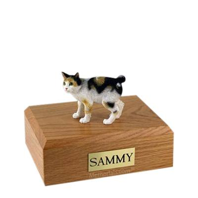 Japanese Bobtail Tort Medium Cat Cremation Urn