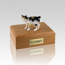 Japanese Bobtail Tort Small Cat Cremation Urn