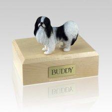 Japanese Chin Black & White Large Dog Urn