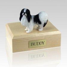 Japanese Chin Black & White X Large Dog Urn