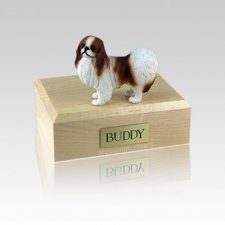 Japanese Chin Red & White Small Dog Urn