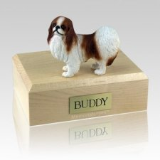 Japanese Chin Red & White X Large Dog Urn