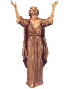 Jesus Praying Bronze Statues