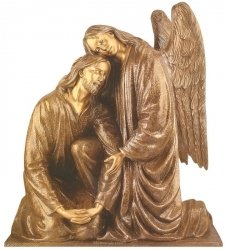 Jesus & Angel Bronze Statues