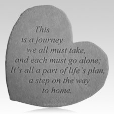 Journey Home Heart Stone
