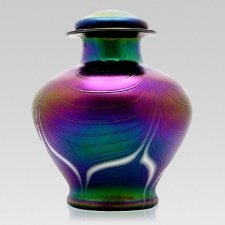 Jugendstil Glass Cremation Urn