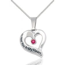 July Silver Heart Keepsake
