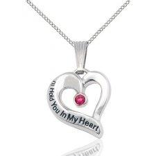 July Heart Keepsake Jewelry