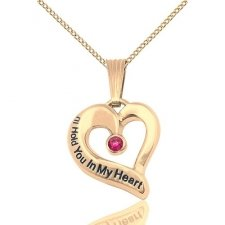 July Yellow Gold Heart Keepsake