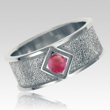 July Birthstone 14k White Gold Ring Print Keepsakes