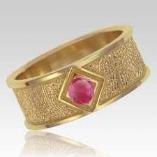 July Birthstone 14k Yellow Gold Ring Print Keepsake