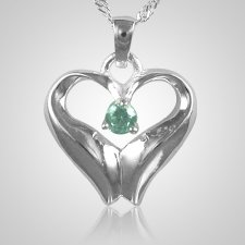 June Birthstone Cremation Heart