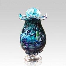Jungle Fever Glass Cremation Urn