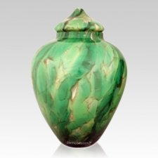 Jungle Glass Pet Urn