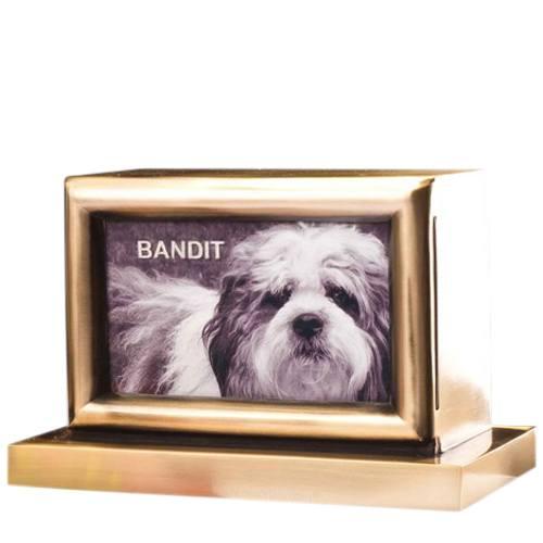 My Best Friend Bronze Picture Urn